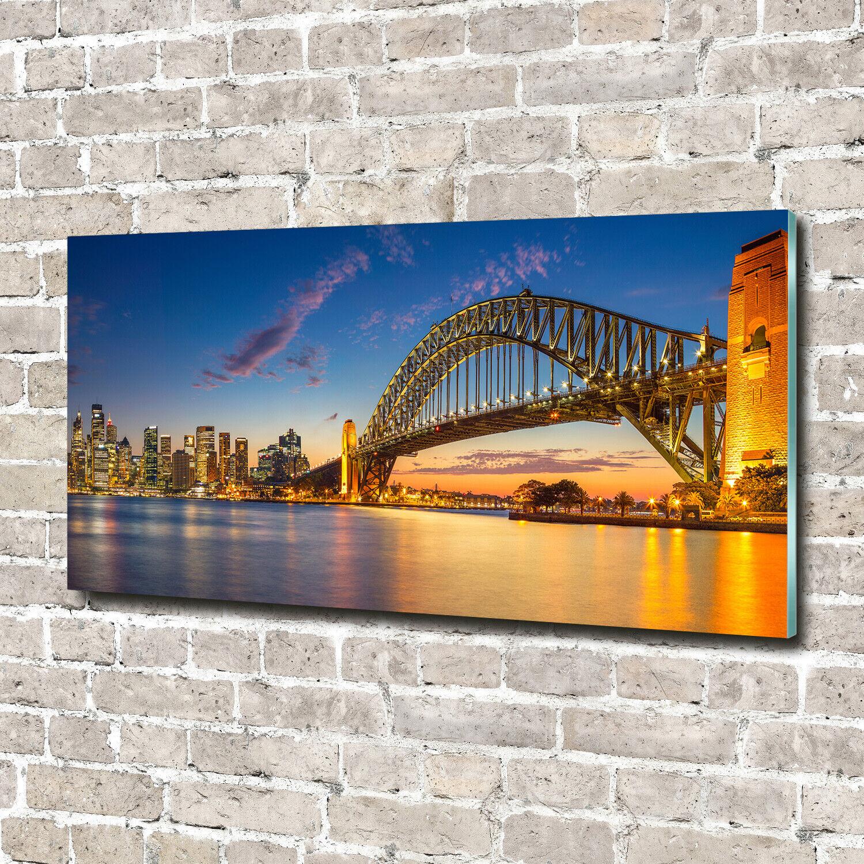Acrylglas-Bild Wandbilder Druck 140x70 Deko Landschaften Sydney-Panorama