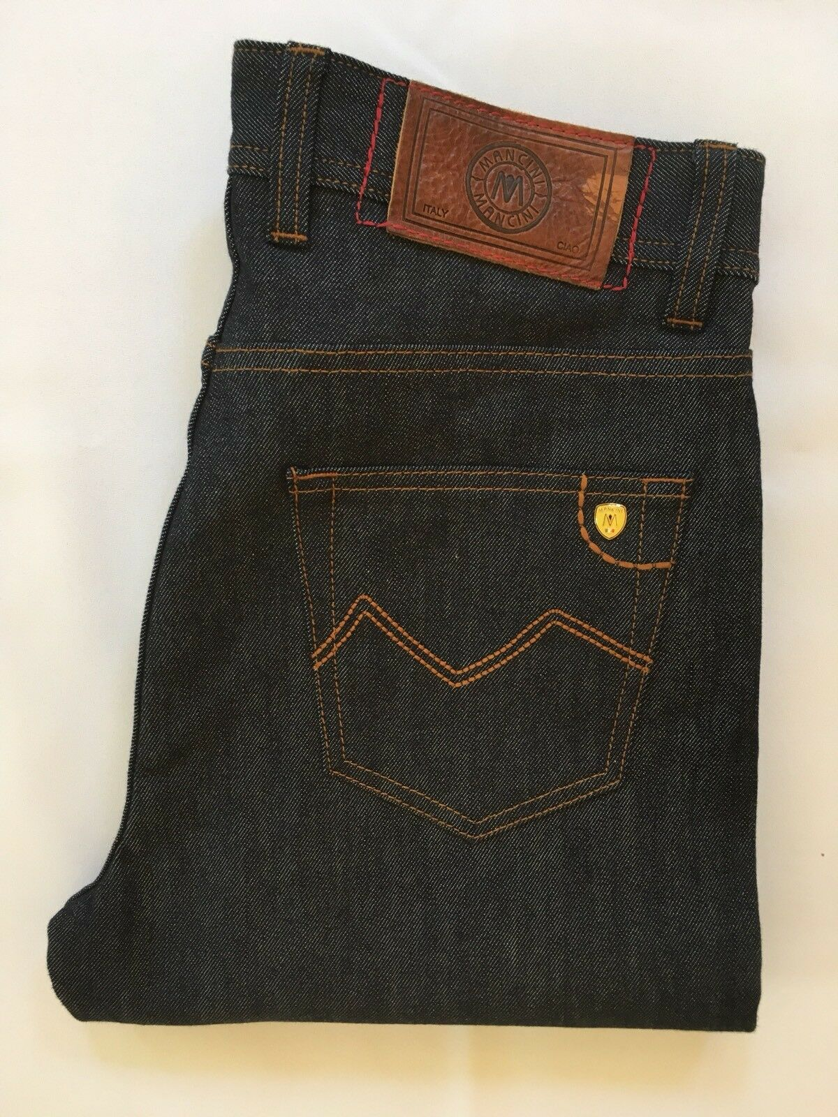 "Mancini Vincent bluee Jeans 32  waist 36"" leg Regular Stretch RRP"
