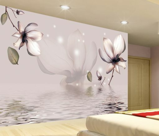 3D golden Flower Blooming  Fototapeten Wandbild Fototapete BildTapete Familie DE