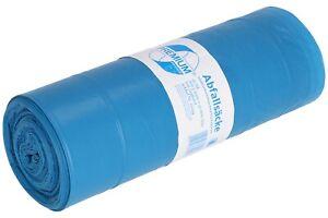 25 Stk Müllsack 120L Blau mit ZUGBAND Abfallbeutel Abfallsack Müllbeutel 925