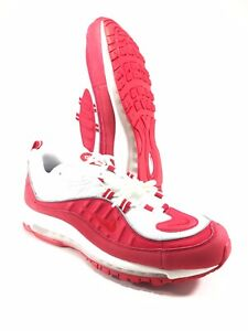 Details about Nike Air Max 98 University Red Mens Size 12 Running Shoes White 640744 602 NEW
