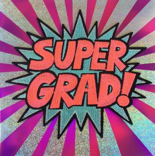 Retails $9.95 Papyrus Graduation Card Fabulous Embroidered Pop Super Grad