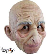 Chinless látex hombre viejo máscara abuelo Senior Calvo Horror Halloween Vestido de fantasía