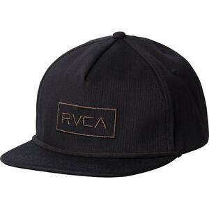 7e85a0c26f2 NWT Men s RVCA Witz Adjustable Snapback Hat Cap Black 5-Panel Skate ...