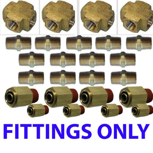 """XFITX Air suspension valves Fittings only Kit all U need for 8 Brass Valves 1//4/"""""""