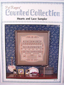 Cross-Stitch-Pattern-Hearts-and-Lace-Sampler-Pat-Rogers-Counted-Collection