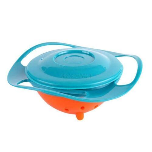 Magic Baby Feeding Toddler Bowl Gyro 360 Rotating Bowl Non No Spill UK
