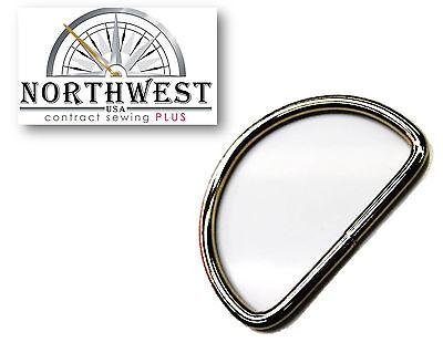 2 inch Welded Steel Nickel plated D-Rings  for 2' Webbing  10 per lot