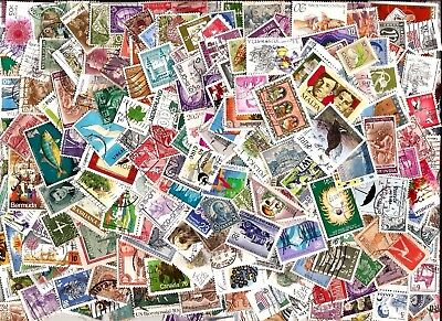 100 WORLD STAMPS selection kiloware 100 different off paper good used