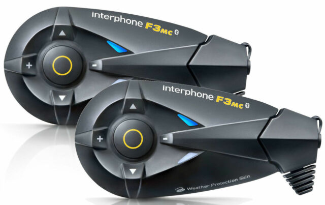 INTERFONO INTERPHONE CELLULAR LINE F3MC F3 MC TWIN  kit doppio Mp3 WP Bluetooth