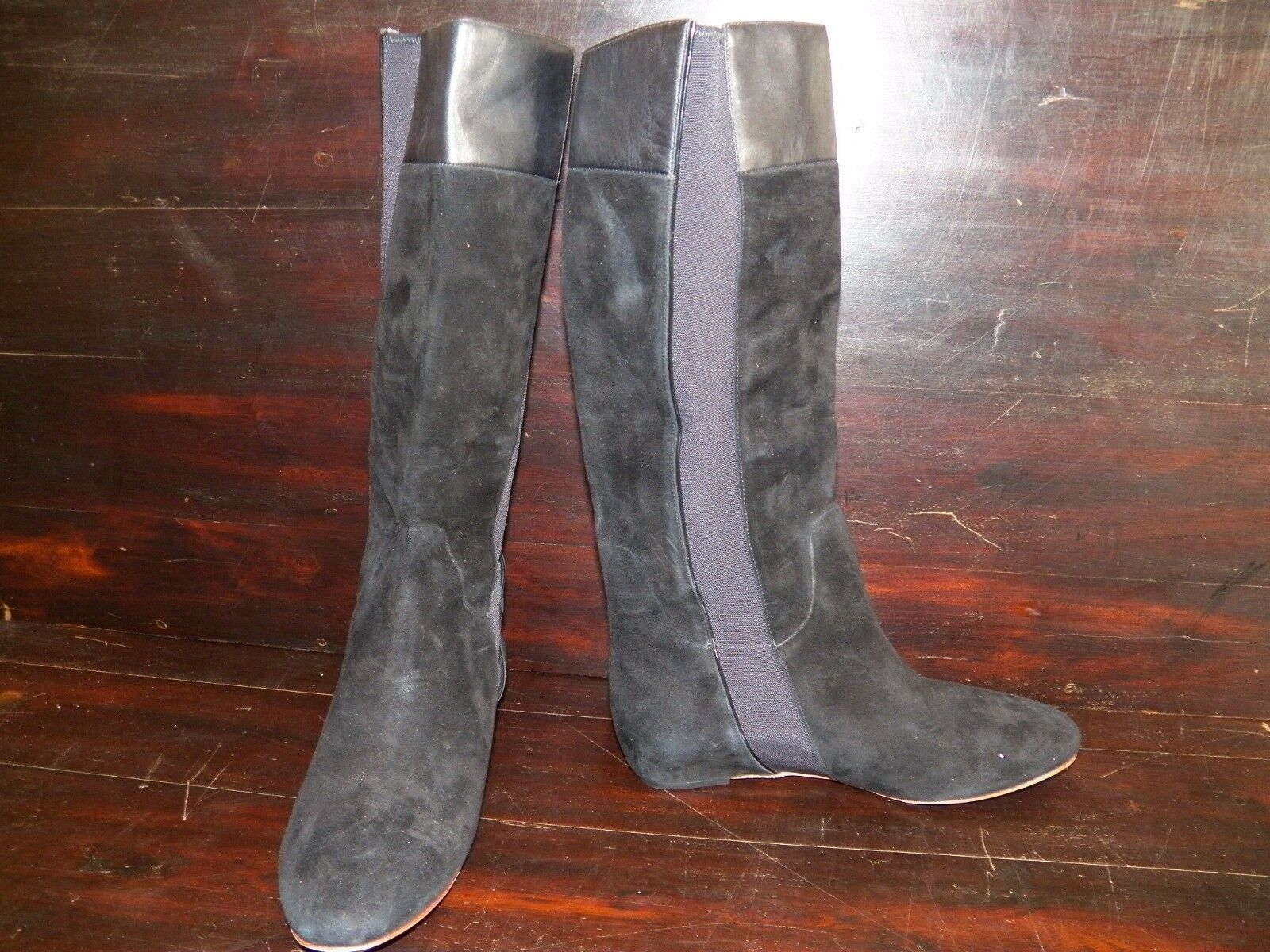 New Womens Tsubo Galena Black Leather Suede Tall Knee High Boots Dressy Boots High b8cb44