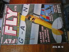 2?µ µ? Revue FLY n°78 Plan encarté Morane Type H / Coyote Paddle Spitfire