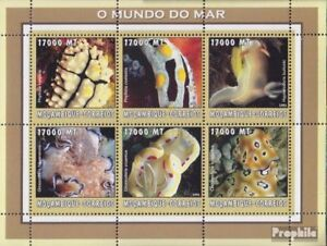 Topical Stamps Mozambique 2602-2607 Sheetlet Unmounted Mint Stamps Never Hinged 2002 World Of Marine Limpid In Sight
