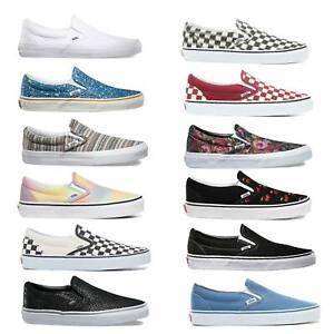 Vans-Classic-Slip-On-Damen-Sneaker-Slipper-Schuhe-Turnschuhe-Skateschuhe
