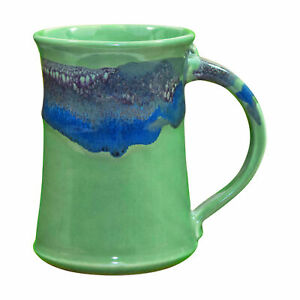 Clay-in-Motion-Handmade-Ceramic-Large-Mug-Coffee-Cup-20-oz-Misty-Green