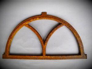 Stallfenster hierro fundido semicircular oxidada d.59x33cm vintage antiguo muro decorativas  </span>
