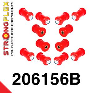 Suzuki Samurai SJ410 SJ413 Blattfederbuchsen StrongFlex 80ShA  rot Lager