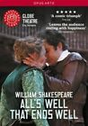 All's Well That Ends Well Globe Theatre 0809478010821 With Sam Cox Region 2