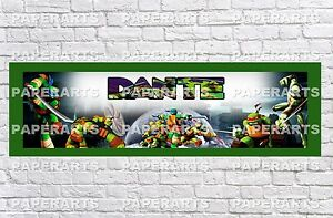 Personalized Ninja Turtle Name Poster with Color Border ...