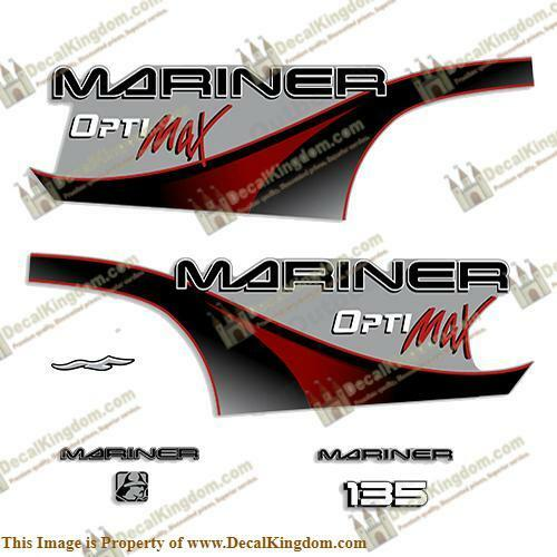 Mariner 135hp Optimax - 2000 (rojo) Outboard Decals 3M Marine Grade