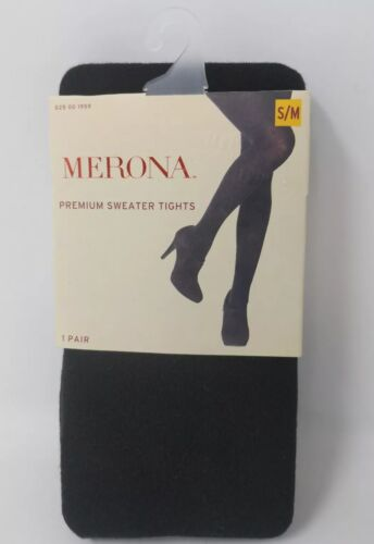 Merona Black Sweater S//M Women/'s Tights Opaque Low Rise New