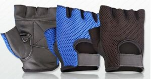 MESH-NET-PADDED-LEATHER-GYM-GLOVES-FITNESS-CYCLING-WEIGHT-LIFTING-SPORTS-NEW