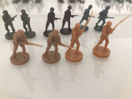 Axis And Allies 1984 Game Replacement Parts Pieces Infantry Soldiers Lot Of 10