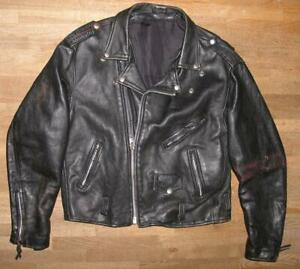 034-MINISTRY-034-Motorrad-Lederjacke-Bikerjacke-Jacke-schwarz-ca-Gr-52-54