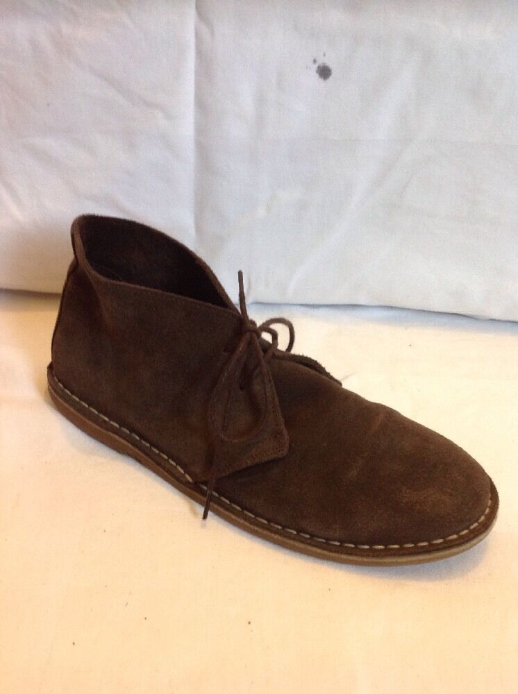 Ben Sherman Brown Ankle Suede Boots Size 40