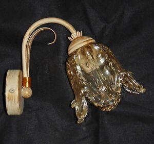 Applique Camera Da Letto Lampada Per Parete Avorio E Vetro Art 262 Shabby Chic Ebay