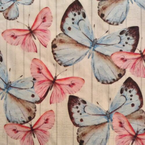 Papel Servilletas Decoupage X 2 Mariposa Sueño 33cm