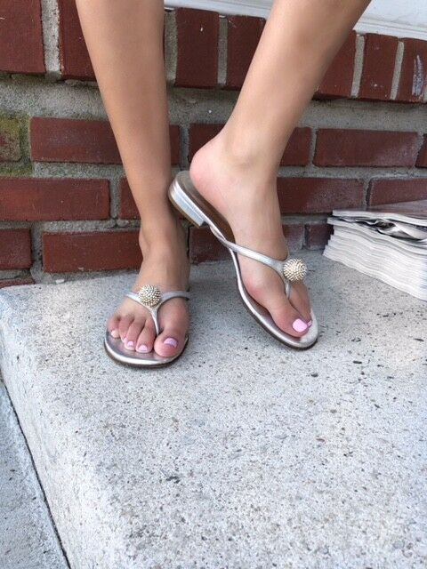 Valentino Vintage Crystal Ball Silver Sandal Size 37