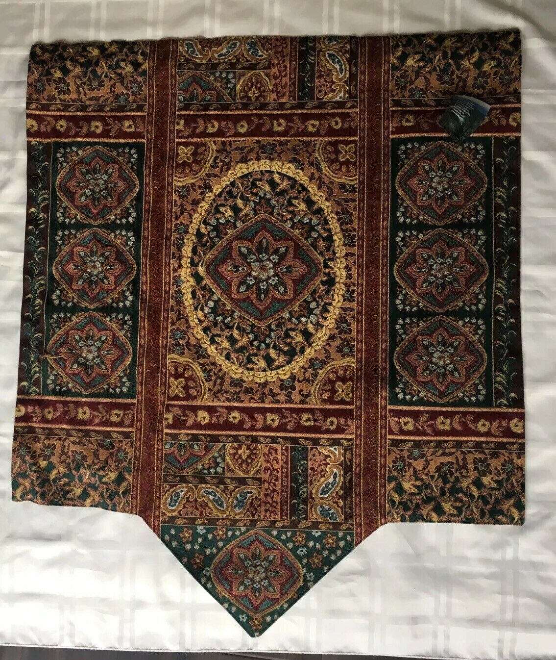 NWT Manual Woodworkers & Weavers Jacquard Woven Tapestry, Jewel Tones, USA Made