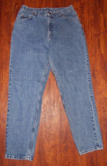 Women's Vintage Lee Denim Blue Jeans ~ Size 14M ~ Classic Rise ~ 30.5 Inseam