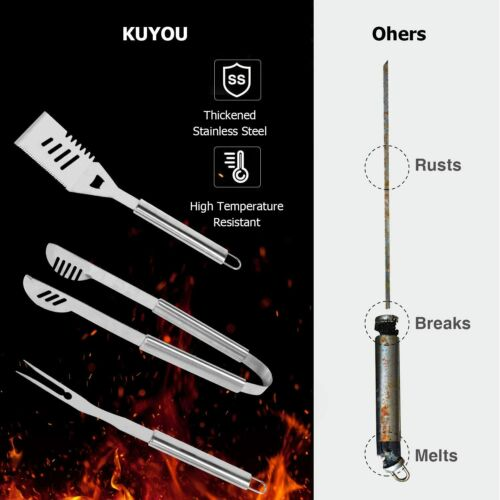 25 in 1 Grilling Accessories BBQ Grill Tools Set 25Pcs Stainless Steel Kit for
