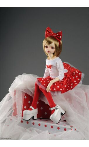 """Dollmore 17/"""" 1//4 Doll clothes  MSD SIZE Kiyomi Dress Set Red"""