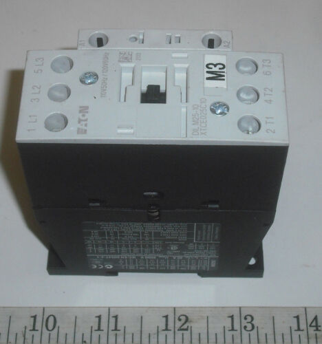 IEC Magnetic Contactor,3Pole,3 Ph,110//120V,25A //40A Eaton DIL M25-10,XTCE025C10