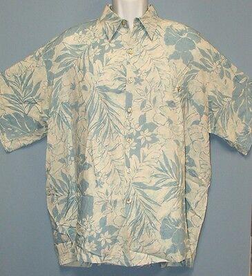 Tori Richard Honolulu Blue Flowers Leaves Aloha Camp Shirt 100% Viscose Mens XXL
