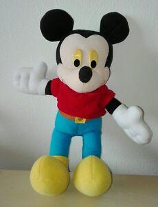 Peluche-topolino-disney-2001-pupazzo-vintage-25-cm-plush-soft-toys-mickey-mouse