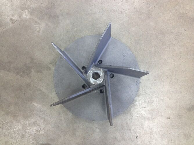 Soplador de hojas 61-14-E Parker Barrojoora Aspiradora Vac Eje Impulsor Del Ventilador Turbina de 3 4