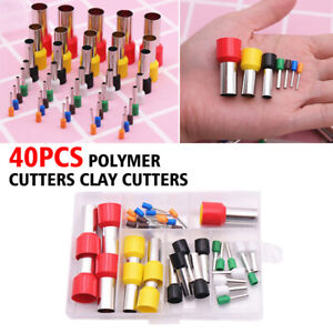 40pcs Mini Clay Hole Cutters Round Polymer Ceramic Pottery Sculpting Punch Tool