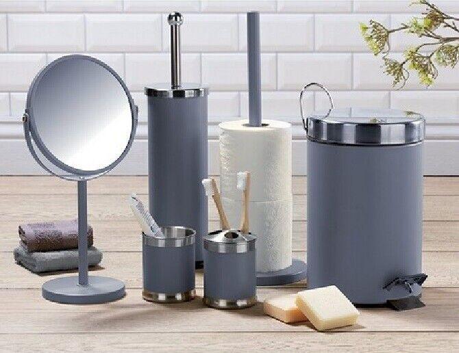 Stainless Steel 6-Piece Bathroom Set Accessories Set Grey