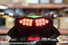 2010-2013 Kawasaki Z1000 Versys 11-17 Ninja 1000 SEQUENTIAL LED Tail Light SMOKE