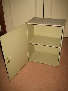 Vintage-20-kgs-Heavy-Metal-Cabinet-Strong-Hold-with-2-shelves-amp-lock-no-key