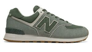 NEW-BALANCE-574-Scarpe-Uomo-Sneakers-Suede-Textile-SLATE-GREEN-FOG-ML574SPC
