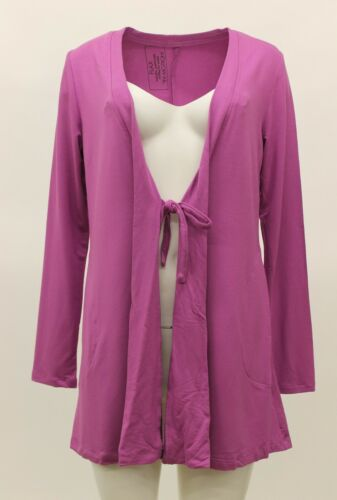 FLAX IN MOTION JERSEY TIE CARDIGAN JACKET COVER UP PEONY PETITE