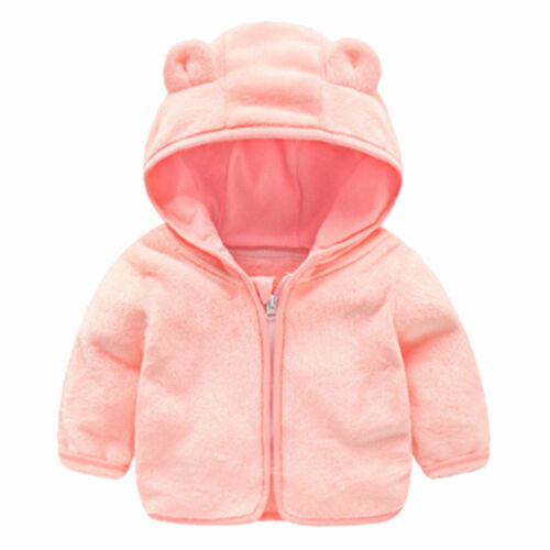 Toddler Baby Kids Clothes Boy Girl Hooded Hoodie Coat Jacket Winter Outwear Tops