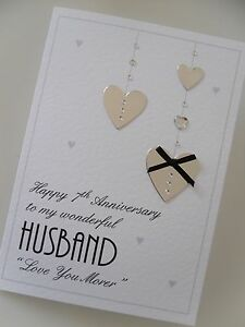 personalised handmade anniversary card husband wife girlfriend