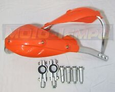 FAT BAR 28mm & STD 22mm ORANGE HAND BRUSH GUARDS MOTORCYCLE BIKE MX  ENDURO