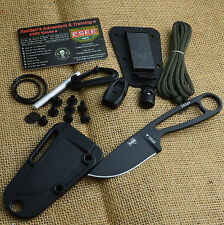 ESEE Izula Black 1095 Carbon Fixed Blade Survival Knife With Kit Izula-B Kit